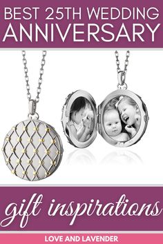 Looking for the best silver wedding gift for your partner? Youre in the right place! Love and Lavender have put together a list of the best 25th wedding anniversary gift inspirations that are surely to put a smile over the receivers face. See it for yourself! #weddinganniversary #weddinganniversarygifts #weddinganniversarygiftsforher #weddinganniversarygiftsforhim #silverweddinganniversarygifts #silverweddinganniversary