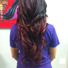 Brown+to+Red+Ombre+Hair   My beautiful brown to red ombre' :))   Hair