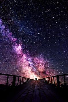 Pour demain matin mon amour, un chemin qui mene aux etoiles, ou au satelitte lol, je t'aime mon ange...
