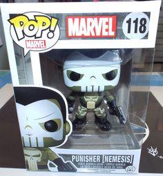 Funko Pop Marvel PUNISHER Nemesis #118 Vinyl Bobble Figure NEW!