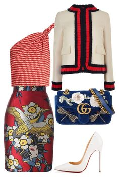 """""""Mix fo 3 print"""" by meliaa888 on Polyvore featuring мода, Rosie Assoulin, Christian Louboutin, Gucci и Dsquared2"""