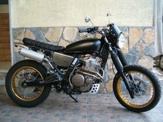 my scrambler hande made on the basis dominator - Honda Dominator