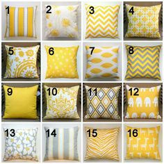 Premier Prints Yellow Pillow Cover 14x14 inches by Modernality2, $14.95