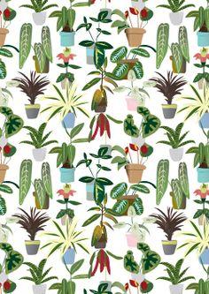 Plant print #pattern #seamless