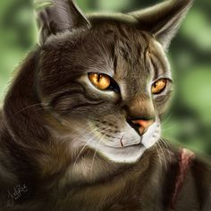 Bramblestar, son of Tigerstar and Goldenflower, brother of Tawnypelt. He's half-brother of Hawkfrost and Mothwing, who belong to RiverClan. Tigerstar and Hawkfrost were evil cats who now reside in the Dark Forest. His sister lives with ShadowClan and his half-sister lives as a medicine cat to RiverClan. He's a brave, loyal warrior.