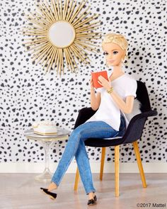 Dialing in to new decor! Mix vintage vibes with modern motifs for a fun, fresh look. ✔️ #barbie #barbiestyle