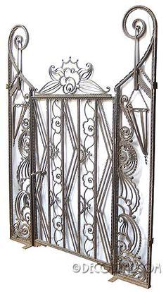 Edgar Brandt French Art Deco Iron Gate