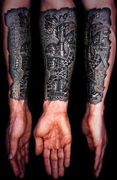 Image result for bionic back tattoo