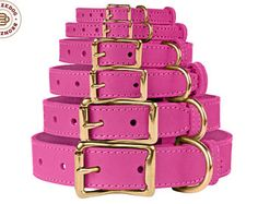 Pink Dog Collar, Leather Dog Collar, Personalized Dog Collar, Girl Dog Collar