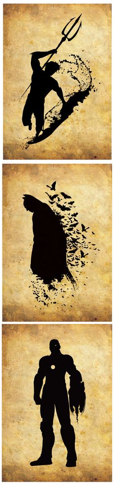 Silhouette Superheroes / Justice League / by RightBrainJooz