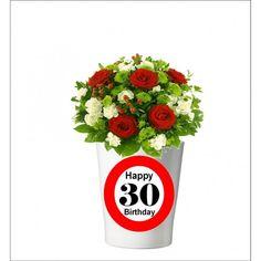 133 -  Geburtstagsgeschenk 30 Pflanzentopf ohne Pflanze Happy 20th Birthday, Happy 30th, 30th Birthday, Mugs, Tableware, Plants, Gifts, Dinnerware, Tumbler