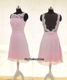 Short Bridesmaid Dress Top Lace Bridesmaid by StarCustomDress