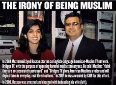 The irony of being Muslim.