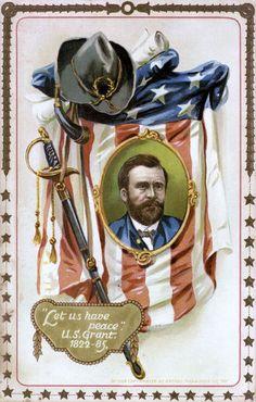Framed Print-Memorabilia portrait of Ulysses S. Grant-Framed Print made in the USA Fine Art Prints, Framed Prints, Canvas Prints, Ulysses S Grant, Military Art, Military Life, Vintage Postcards, Vintage Cards, Poster Size Prints
