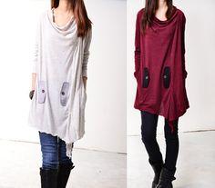Windflower  flowing asymmetrical tunic dress  by idea2lifestyle