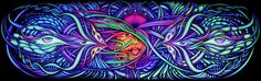Hybrid, 660 x 200 cm Fractal Art, Fractals, Backdrops For Parties, Trippy, Home Deco, Cosmic, Psychedelic, Surrealism, Abstract Art