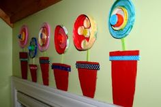 """I was looking for a fun Spring Art Project for my classroom...I love this """"recycled"""" art project that is so colorful.  I think my students will love it too!    (do to do a lil earth day art...i think so...)"""
