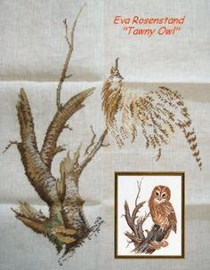 Eva rosenstand owl; fabric in cylinder...my progress pic