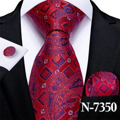 Tie Set, Stripes Fashion, Ruby Red, Pocket Square, Color Combinations, Red And Blue, Paisley, Cufflinks, Man Shop