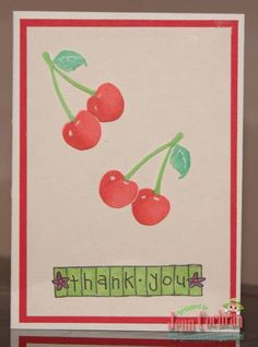 Thank you- Cherry Card