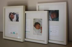 frame all the birth announcements with a picture