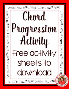 Chord Progression Activity. ♫ CLICK through to download the free music worksheets ♫