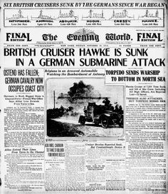 "New York Evening World, October 16, 1914 ""Today in Media History: War news from 100 years ago today"" Poynter."