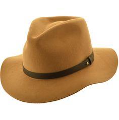 SOMBRERO FIELTRO THOMSON Sombrero de fieltro de lana 100% Ala de 8 cm y  altura de copa de 9 cm Termnado con cinta de cuero a406f028e0c