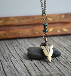 Mens Arrowhead Necklace, Spearhead, Mens Necklace, Unisex Arrowhead Necklace, Jet Black, Tribal Arrowhead, Aztec Jewelry, Canadian Shop