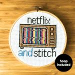 Netflix And Stitch Kit (with hoop) #crossstitch