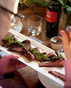 The Biggest Moments in Weddings in 2014: Chimichurri The Argentinian green sauce appeared over grilled steak and with tacos at countless receptions.