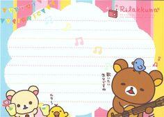 Rilakkuma bear Memo Pad picnic & lemonade 5