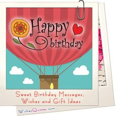 Sweet Birthday Messages, Wishes and Gift Ideas