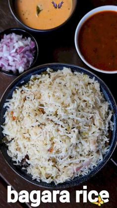 bagara rice recipe | bagara khana recipe | hyderabadi bagara chawal bagara rice recipe | bagara khana recipe | hyderabadi bagara chawal with detailed photo and video recipe. an easy and simple flavoured rice recipe from the popular hyderabadi cuisine. it is a simple pulao like a recipe without adding vegetables with a generous amount of pudina (mint) and coriander leaves. traditionally the dish is served with choice of meat-based curries like mutton korma or chicken curry, but can also be… Cooked Rice Recipes, Easy Rice Recipes, Cooking Recipes, Manchurian Recipe Vegetarian, Vegetarian Recipes, Paneer Biryani, Mutton Korma, Hyderabadi Cuisine, Flavored Rice