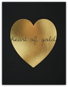 Heart of Gold (comes in black, white & kraft paper) // ssprintshop.com