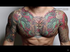 Chest tattoo men