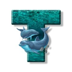 Buchstabe - Letter T Monogram Alphabet, Letter T, Dolphins, Fonts, Stickers, Random, Awesome, Alphabet, Initials