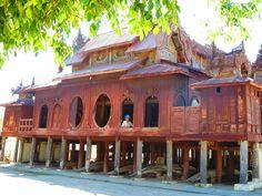 Shwe Yan Pyay Monastery, Nyaung Shwe, Inle Lake, Myanmar Amarapura, Inle Lake, Yangon, Mandalay, Countries, Wings, Album, Mansions, House Styles