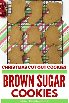 Everyone loves these Brown Sugar Cookies we make for Christmas. These homemade cookies can be shaped by hand or cut out with cookie cutters Coffee Cookies, Spice Cookies, Cut Out Cookies, Oatmeal Cookies, Candy Recipes, Cookie Recipes, Dessert Recipes, Brown Sugar Cookies, Sugar Sprinkles