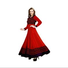 Buy Vraj Fashion Evelyn red salvar suit by vraj fashion, on Paytm, Price: Rs.799