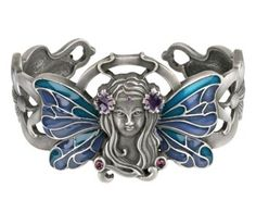 Fairy Art Nouveau Bracelet [2418S] - $19.99 : Mystic Crypt, the most unique, hard to find items at ghoulishly great prices!