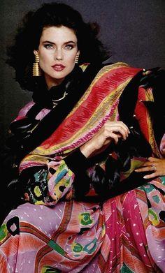 Carol Alt in Louis Feraud, 1980s