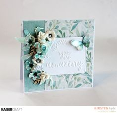 Kaisercraft Design Team Group Post. Wildflower You are Amazing Dry Embossed Card 1. By Kirsten Hyde DT member for Kaisercraft Official Blog featuring New Product March 2017 Wildflower collection and You are Amazing Embossing Folder.   Learn more at kaisercraft.com.au/blog ~ Wendy Schultz ~ Cards 1.