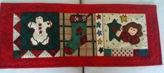 CHRISTMAS  TABLE  RUNNER,Table Topper, Table Centerpiece, Table Decor 100 percent cotton, quilted by QuiltingbyDiamanti on Etsy