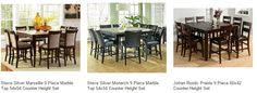9-Piece Set Cheap Kitchen & Dining Room Furniture - Discount Tables, Chairs, Benches, Buffets, Counter Height Table Sets, Sideboards and Servers, Bakers Rack, Pantry, Kitchen Carts and Kitchen Islands on sale online at eFurnitureMart