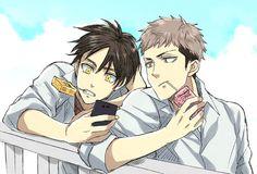 Eren Jean Attack on Titan Manga and Anime Characters -  Ha Ha Ha eren is just like: Wait, wait, lemme take a selfie