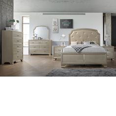 Home Source Bedroom Furniture Bed/Dresser/Mirror/2