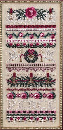 beautiful Christmas cross stitch piece by Just Nan