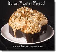 "Italian Easter Bread.  It's all about the ""dove"" shape.  You can use a free form paper mold."