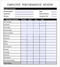 Employee Information Form Sample Employee Evaluation Form PDF